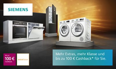 Siemens Kühlschrank Extraklasse : Siemens cashback aktion elektrogeräte holler elektro pehl